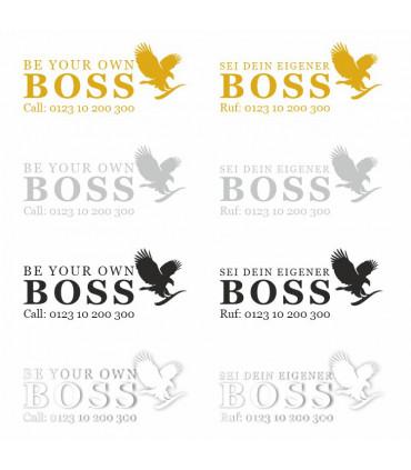 BOSS - Aufkleber (personalisiert)