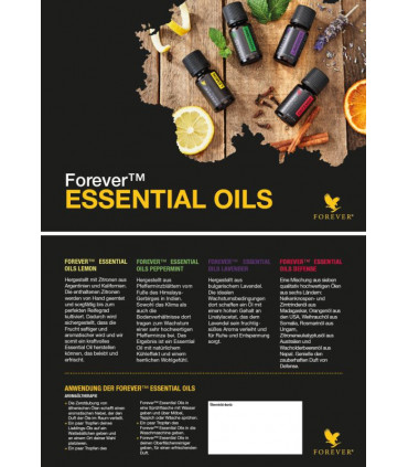 "Infokarte ""Essential Oils"""