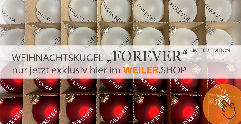 "Weihnachtskugel ""FOREVER"""