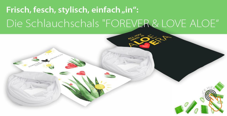 Schlauchschal FOREVER & LOVE ALOE
