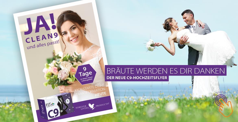 CLEAN9 - Hochzeitsflyer